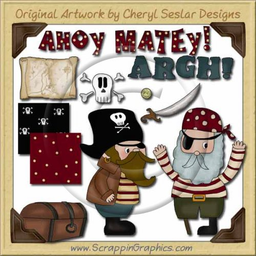 Little Pirates Collection Graphics Clip Art Download