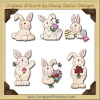 Cute Little Bunnies Graphics Clip Art Download