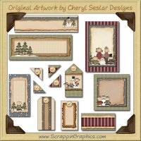 Winter Play Journaling Delights Digital Scrapbooking Graphics Clip Art Download