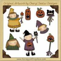 Wee Folk Little Witches Graphics Clip Art Download