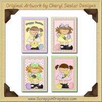 Easter Cuties Greeting Cards Printable Craft Download
