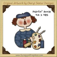 Paintin' Annie Single Graphics Clip Art Download
