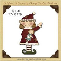 Elf Girl Single Clip Art Graphic Download