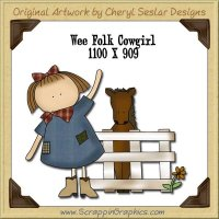 Wee Folk Cowgirl Single Graphics Clip Art Download