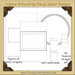 Blank Wrapper Template Set Printable Craft Collection Graphics C