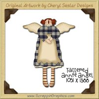 Tattered Annie Angel Single Graphics Clip Art Download