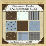Cinnamon Mocha Background Tiles Clip Art Graphics