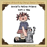 Annie's Feline Friend Single Graphics Clip Art Download