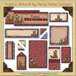 Beary Christmas Journaling Delights Digital Scrapbooking Graphics Clip Art Download
