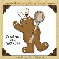 Gingerbread Chef Single Graphics Clip Art Download