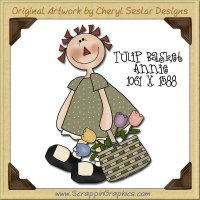 Tulip Basket Annie Single Graphics Clip Art Download