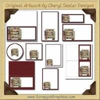 Candle Hutch Printable Pack Graphics Clip Art Download