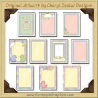 Cute As A Button Sampler Card Printable Craft Download