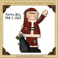 Santa Boy Single Graphics Clip Art Download