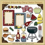 Barbeque Elements Collection Graphics Clip Art Download