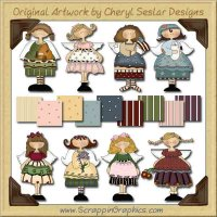 Whimsical Angels Collection Graphics Clip Art Download