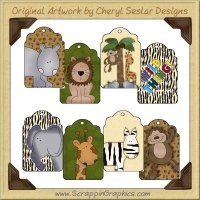 Jungle Fever Tags Collection Graphics Clip Art Download
