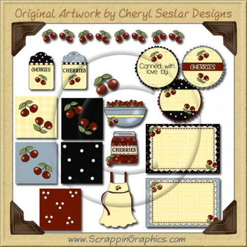 Just Cherries Collection Graphics Clip Art Download