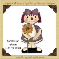 Sunflower Annie Single Graphics Clip Art Download