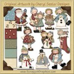 Primsical Winter Mega Collection Graphics Clip Art Download