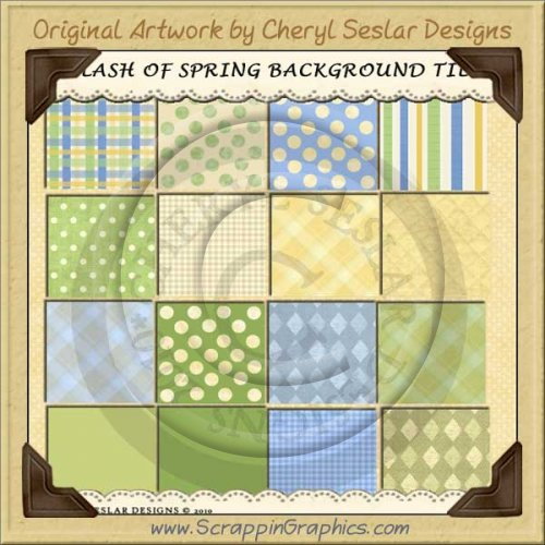 Splash Of Spring Background Tiles Clip Art Graphics