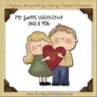 My Sweet Valentine Single Graphics Clip Art Download
