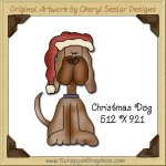 Christmas Dog Single Graphics Clip Art Download