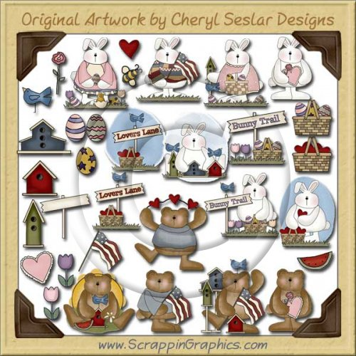 Never Enough Bears & Hares Graphics Clip Art Download