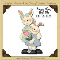 Bunny Mom & Me Single Graphics Clip Art Download