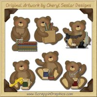 Sewing Bears Collection Graphics Clip Art Download