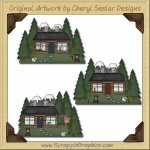 Mountain Retreat Limited Pro Graphics Clip Art Download