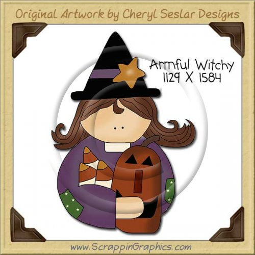 Armful Witchy Single Clip Art Graphic Download