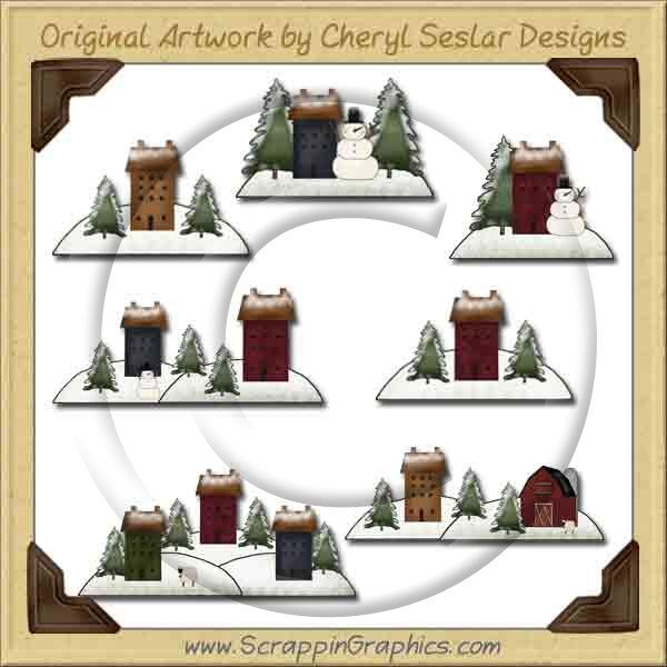 Saltbox Winter Collection Graphics Clip Art Download - Click Image to Close