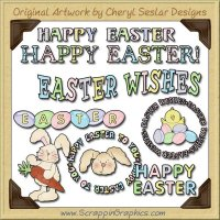 Happy Easter Sediments Limited Pro Graphics Clip Art Download