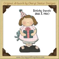 Birthday Sweetie Single Graphics Clip Art Download