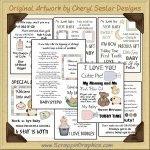 Reseller - Sweet Baby Sentiments Transparency Sheets Clip Art Graphics