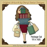 Package Gal Single Graphics Clip Art Download