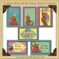 Happy Birthday Sampler Card Collection Printable Craft Download