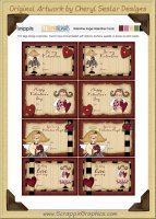 Valentine Angel Snippets Journaling Tags