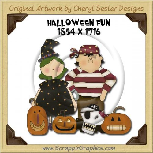 Halloween Fun Single Graphics Clip Art Download