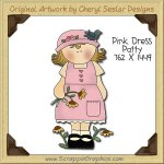 Pink Dress Patty Single Clip Art Graphic Download