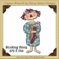 Stocking Annie Single Graphics Clip Art Download