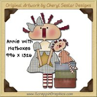 Annie With Hatboxes Single Graphics Clip Art Download