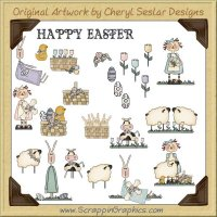 Spring Fever Easter Clip Art Download