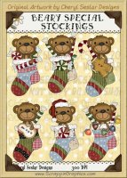 Beary Special Stockings Limited Pro Clip Art Graphics