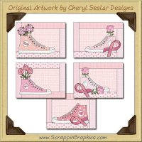 Walking For The Cure Cards Collection Printable Craft Download