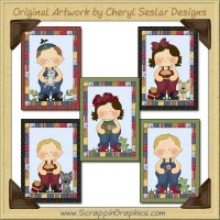 Rag A Muffin Sampler Card Collection Printable Craft Download