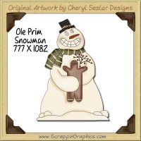 Ole Prim Snowman Single Graphics Clip Art Download