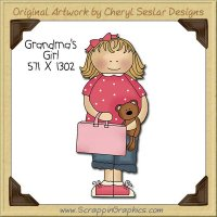 Grandma's Girl Single Clip Art Graphic Download