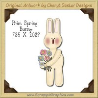 Prim Spring Bunny Single Graphics Clip Art Download